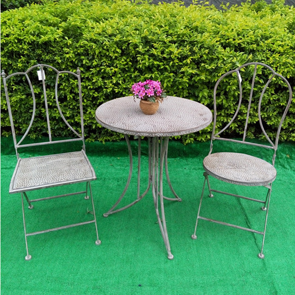 Metal French antique heb wrought iron patio furniture