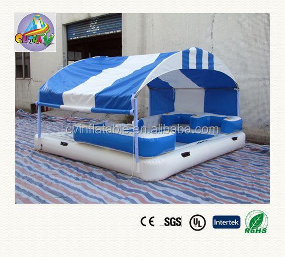 Gonflable le flottant salon avec auvent gonflable salon chaise gonflable sal - Ile gonflable piscine ...