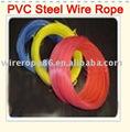 Alambre de acero de PVC cuerdas