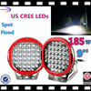 single color waterproof ip68 led underwater light outdoor used 185w led driving light for truck led truck light 9inch