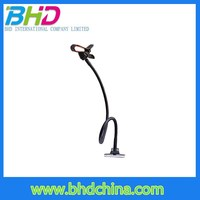 Long Gooseneck metal moblie phone holder use the clip as a Desktop Phone/Tablet Stand phone holder