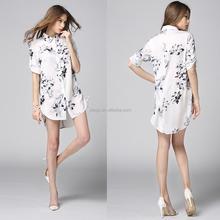 100% Silk Woman T-Shirt ! Casual Long ladies Blouse ! High Quality