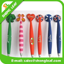 Lovely with special shape rubber ballpoint pen