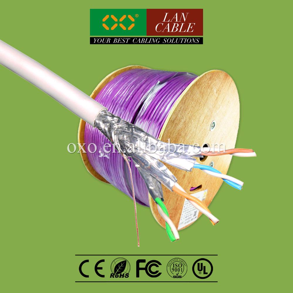 iran sıcak satış 305m 1000ft fr pvc kılıf 4 çift katı saf bakır cat 7 sftp net bağlantı kablosu