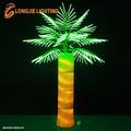 palmera iluminada al aire libre/palmera llevado