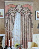 Professional Blackout Luxury Jacquard Curtain with valance