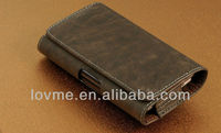 For Samsung Galaxy Note II N7100 BROWN Leather Holster Pouch Case Belt Clip