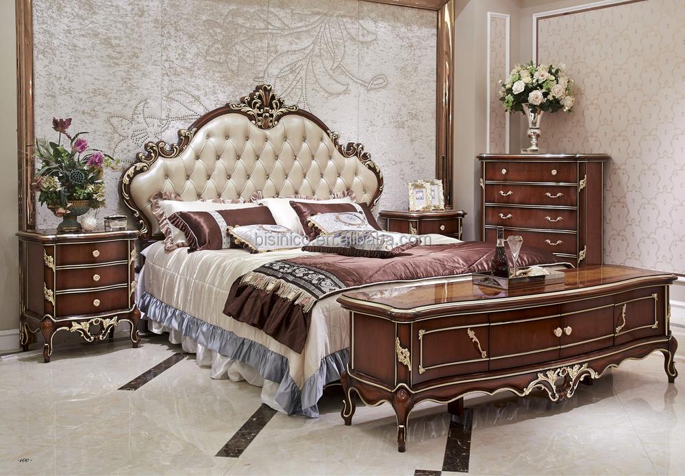 Eau style luxe antique lit mobilier de chambre de luxe for Ensemble mobilier chambre