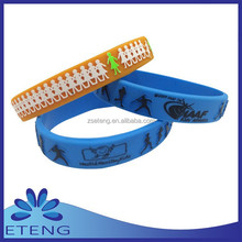 china market custom two colors silicon wheel grain band with design no min order
