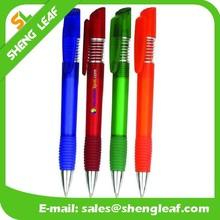 Spring pen with translucent color pen rubber pens grip