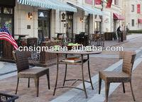 2014 Rattan Bar Furniture Sets 3 Piece Bistro used hotel pool furniture