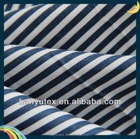 T/C poplin blue and white stripe fabric