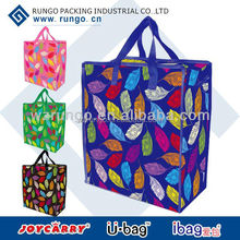 Custom promotion tote shopper with zipper