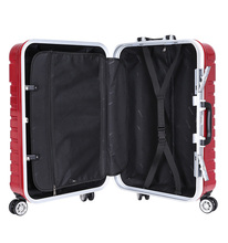 ABS material spinner wheel luggage ABS carry on style aluminum frame ABS luggage