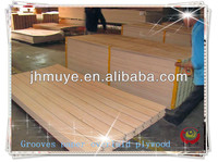 Grooves paper overlaid plywood/Grooves plywood/Grooved paper laminated plywood