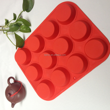silicone molds for candle making Hot Selling High quality 12 holes classical silicone french cake mold