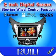 In dash digital touch screen 2 din 8 inch 3D UI for Hyundai Elantra with GPS/BT/Ipod