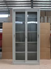 sliding door large luxury metal shoe cabinet