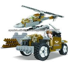 Loongon ejército bloques pequeños 146PCS juguetes