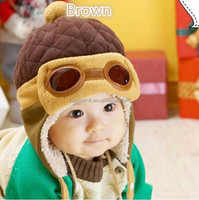 Trendy Baby Boy Girl Kids Winter Pilot Aviator Warm baby Cap Beanie Hat custom beanie hat