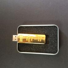 256gb usb 2.0 flash drive fine gold Luxury Gold Bar 16GB USB Flash Drive