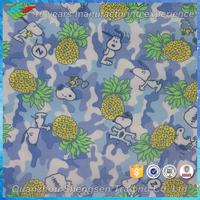 pineapple print tan through swimwear fabric