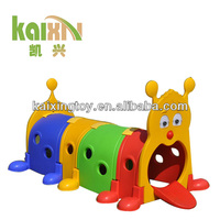 Kids Plastic Worm Tunnel Train Toys For School Use