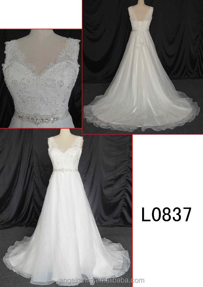 2015 guangzhou corset back a line wedding gowns dresses for Guangzhou wedding dress market