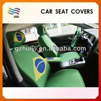 2014 World Cup Brasil Printed Fans Promotion Car Headrest Cover