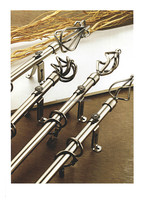 Twisted Finial Curtain Rod Set