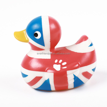 promotion different countries floating flag rubber duck