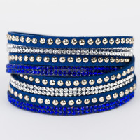 wholesale 2015 diamond Wrap Bracelets & Bangles, hotfix rhinestone leather Bracelet For Women Jewelry BCR030