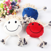 Plush knot talking toys Pet cotton rope cat toys Dog teeth bite resistance bit rope knot small dogs