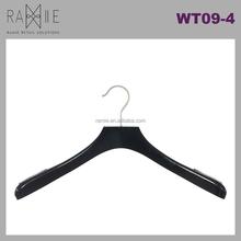 Ramie Hanger, Mannequin, Rack & Paper Products supplier: Antislip Black Wooden Top Clothes Hanger