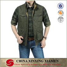 2015 Cheap Wholesale 100% cotton Multi Pockets Vest for working and hunting