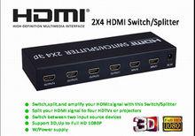2 Entrada 4 HDMI 1080P Salida cambia Apoyo divisores 3D