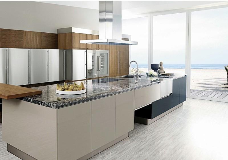 Modular Modern MDF Melamine Country Kitchen Cabinet Manufacturer