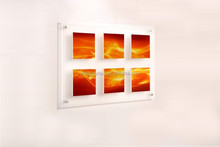 Acrylic Wall Mount Poster Holder Picture Frame Photo Display Clear Perspex Collage Frame