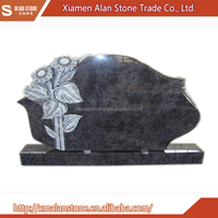 Granite flower carving gravestone tombstone and monument headstone
