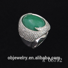 Anillo de ónix verde 925 anillo de piedras preciosas de plata