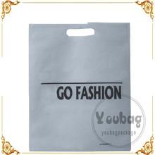 wholesale logo print laminated non woven D cut shopping bag