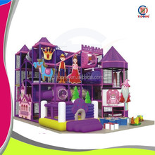 Purple daily care safety play structure with special design