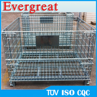 large wire mesh storage containers/stackable steel mesh Box