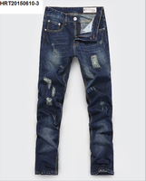 personalized on the streets fashion men's jeans autumn and winter korean slim straight leg men's jeans