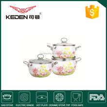 6pcs Standard Enamel cookware set /kitchen casserole set /Cooking pots