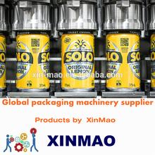 Agua de Soda aluminium can máquina de llenado y sellado para productos líquidos