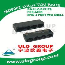 Chinese audio jack connector cat6 utp rj45 modular jack