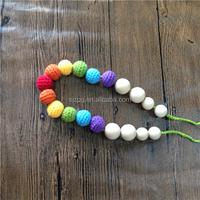 hand made wood teething necklace, wood teeth necklace, baby teeth necklace