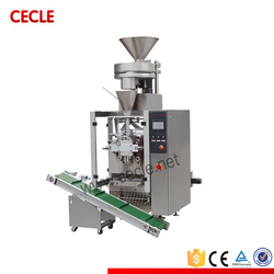 Hot sale vertical form fill and seal machine with cup filler for granules