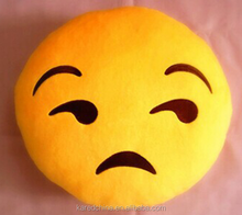 Cute smiling emoji pillows emoticon plush emoji Pillow cover cushion cover